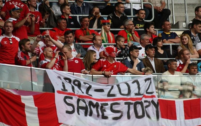Danish Football Fans at EURO 2012 in Lviv, Ukraine; Danske tilhængere, EM 2012