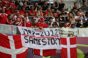 Danish Football Fans, EURO2012, Lviv, Ukraine